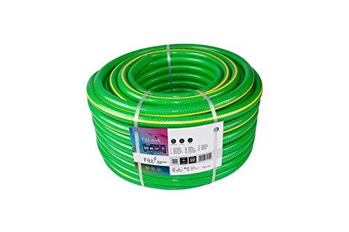 Gartenschlauch Wasserschlauch 3/4 Zoll 50m FITT Mint 4-lagiger PVC-Schlauch mit Kreuzgewebe