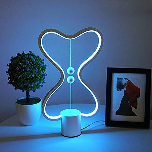 Lámpara LED de escritorio nuevo producto magnético equilibrio inteligente creativo dormitorio lámpara de noche lámpara de noche cambio de color escritorio bar lámpara ambiente (A, fijación colorida)
