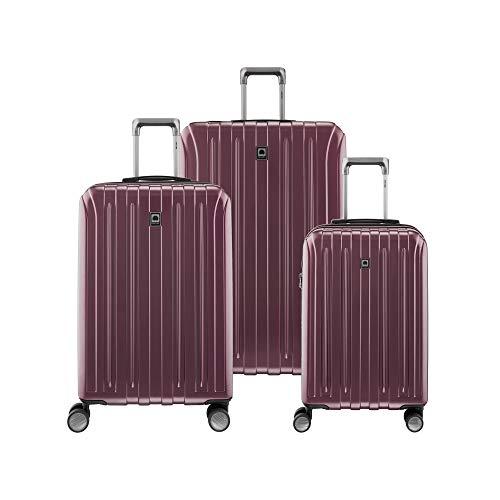 DELSEY Paris Titanium Hardside Expandable Luggage with Spinner Wheels, Purple, 3-Piece Set (21/25/29)