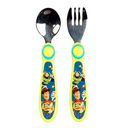 in budget affordable Disney / Pixar Toy Story Early Forks and Spoons, Green