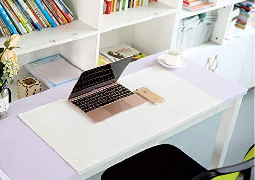 Alfombrilla de escritorio con borde impermeable para escritorio, alfombrilla de ratón, de cuero, con protector de borde para oficina, hogar