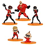 3Dstereo Disney Pixar The Incredibles 2 - 5 Piece Family Figure Set Comes with (Mr./Mrs. Incredible, Violet, Dash and Jack Jack)