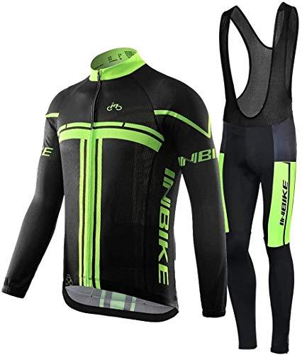 INBIKE Maillot Ciclismo Invierno Hombre 3D Acolchado Gel Ropa Térmica Ciclismo Camiseta...