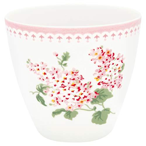 Greengate - Becher, Tasse, Kaffeebecher, Latte cup - LUNA - weiß - Porzellan - 300 ml