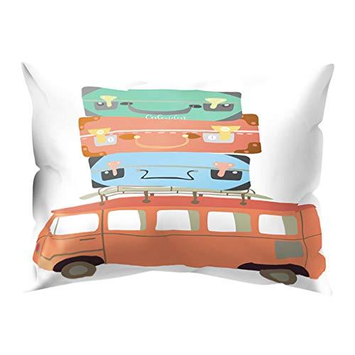 Hunpta @ Kissenbezug 30x50 cm - Kissenhüllen Karikatur Kreativ Kopfkissenbezug für Wohnzimmer Schlafzimmer Kinderzimmer Bett Sofa Dekor Home Dekorative Zierkissenbezüge mit Reißverschlüsse