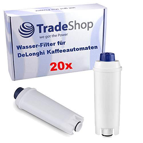Trade-Shop 20x filtr do wody zamiennik DLS C002 SER3017 do ekspresów do kawy DeLonghi Magnifica, Primadonna, Dinamica, Autentica, Cappuccino, Eletta