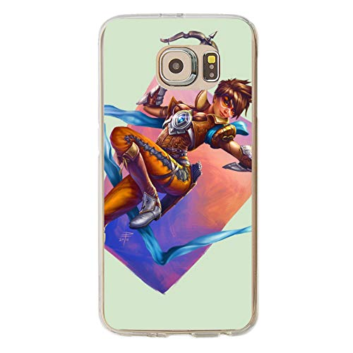 Video Game Over-Watch Galaxy S6 Case,Samsung S6 Case, Anti-Scratch Flexible TPU Protective Skin Cover Case Transparent