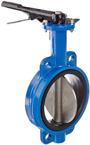 """Dixon BFVW600 Ductile Iron Wafer Style Butterfly Valve with Stainless Steel Disc and Buna-N liner, 6"""" Size, 200 psi Pressure"""