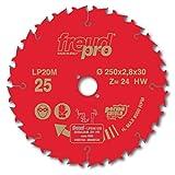 FREUD PRO LP20M 025 <span class='highlight'>TCT</span> <span class='highlight'>Circular</span> <span class='highlight'>Saw</span> <span class='highlight'>Blade</span> - 250mm x <span class='highlight'>30mm</span> - 24T