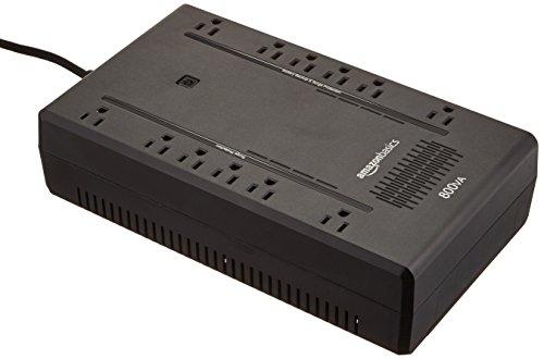 AmazonBasics Standby UPS 800VA 450W Surge Protector Battery Backup, 12 Outlets