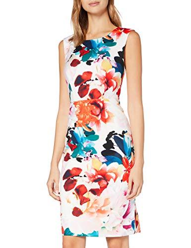 Gina Bacconi Women's Salma Floral Sheath Dress Vestito da Cocktail, Multi, 46 Donna