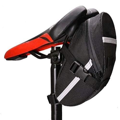 FLZONE Paquete de cuña de sillín para asiento de bicicleta, almacenamiento de maletas debajo del asiento Bolsa de asiento de bicicleta de carretera de reparación de bicicletas Paquete