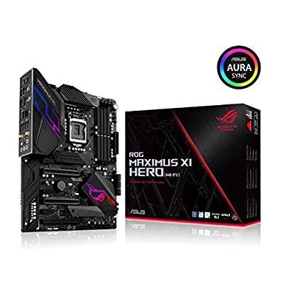 ASUS ROG Maximus XI Hero (Wi-Fi) Z390 Gaming Motherboard LGA1151 (Intel 8th 9th Gen) ATX DDR4 DP HDMI M.2 USB 3.1 Gen2 802.11AC Wi-Fi