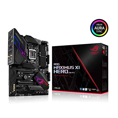 Asus ROG Maximus XI Hero Wi-Fi Gaming Mainboard, Socket 1151, ATX, Intel Z390, 4 x DDR4-Geheugen, USB 3.0, M.2-Interface, Zwart