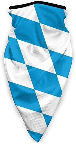 Halswärmer Bayern Flagge Quadrat Blau Winddicht Sturmhaube Vollgesichtsmaske Unisex Sonnenschutz Kopftuch Staubdicht Nackenhaube für Outdoor Sport
