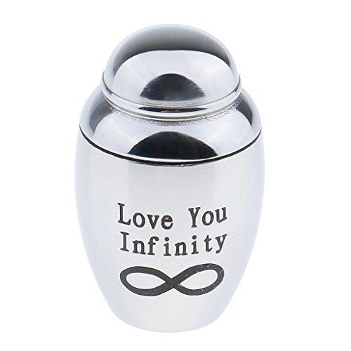Pequeña Cremación Urna Funeraria Cenicero Mini Urna para Mascotas Urnas Perros Gato Cenizas - Impreso Love You Infinity