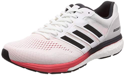 adidas Men's Adizero Boston 7 M Running Shoes, White (Ftwr White/Carbon/Shock Red), 11.5 UK