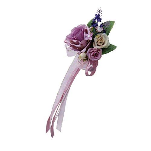 Perfeclan Flor de Seda Artificial del Coche de la Boda y decoración del Partido de la Cinta - Rosa empolvado, 32 x 12 x 10cm