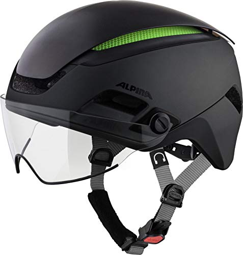 Alpina Unisex– Erwachsene ALTONA M Fahrradhelm, black, 52-57 cm
