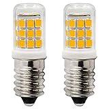 E14 LED Kerze Birnen 2.5W Entspricht 25W Halogen Lampe AC 230V Nicht Dimmbar Fur Nähmaschine Kuhlschrank und Dunstabzugshaube 3000K Warmweiß, 2er-Pack[MEHRWEG]