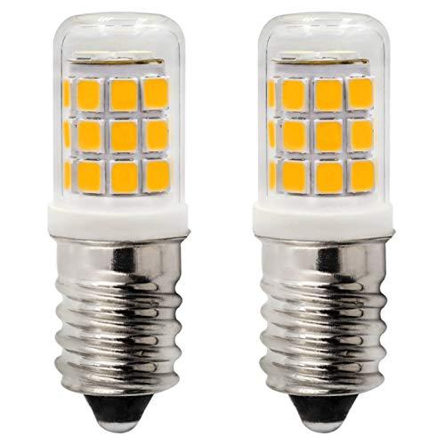 Bombillas LED E14, 2,5 W equivalentes a 25 W, 230 V CA, no regulable, para máquina de coser, armario frío y campana extractora, 3000 K, blanco cálido, 2 unidades