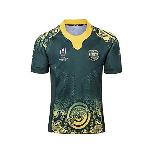 G&F Rugby-Trikot Weltmeisterschaft Herren Australien Rugby Jersey Beiläufig Atmungsaktiv T-Shirt Größe S Zu 3XL (Size : XXL)