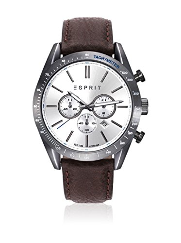 Esprit Herren Datum klassisch Quarz Uhr mit Leder Armband ES108811002