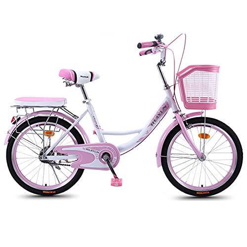 Ciudad liviana para bicicletas para adultos Bicicletas de cercanías, Marco de acero al carbono de alta resistencia con freno de doble disco Bicicleta de crucero de playa, Bicicleta clásica con canas