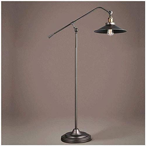DXXWANG Floor Lamp Reading Decorative Lights,Style Simple Retro Industrial Style Swing Arm Arc Fishing Standing Lamp Adjustable Lamp Post