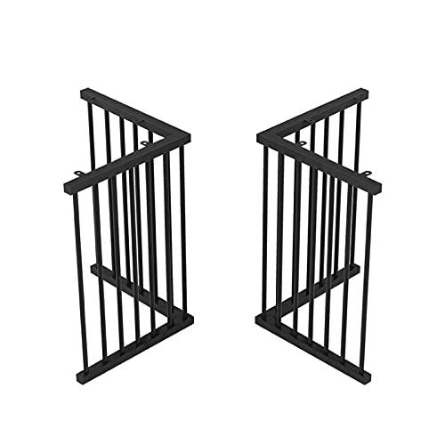 TAZZ-L Piernas De Horquilla De Hierro, Forma V Mesa De Comedor Barra De Mesa Marco De Reemplazo Oficina De Reemplazo Fuegos De Muebles Pientes(Size:70 * 70CM,Color:Negro)