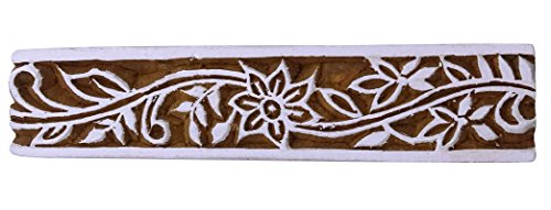 Knitwit Indian Holz Dekorative Handcarved Holztextil Stempel-Blumendrucken-Block