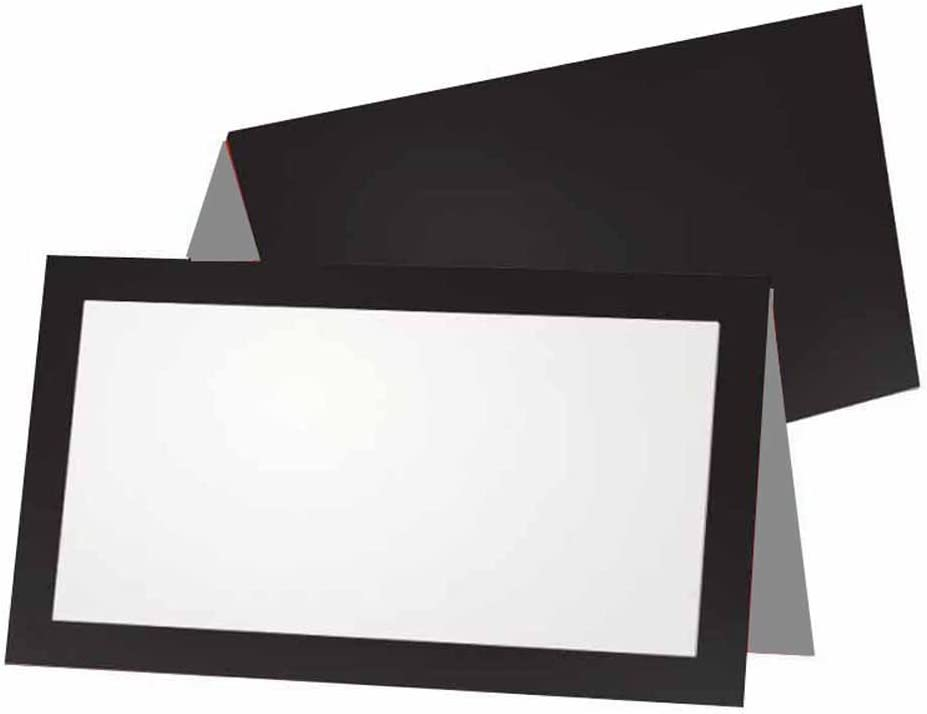 Black and Gray Place Cards - Flat 10 50 or Pack Import Tent Manufacturer direct delivery Style