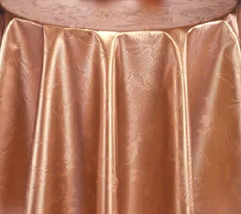 PVC Tischdecke Dahlia Bronze Wachstuch • Eckig • Länge & Breite wählbar• abwaschbare Tischdecke • Blume Blumen Uni braun glänzend, Größe:110 x 300 cm