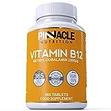 Vitamin B12 | 1500mcg | 365 Tablets | Methylcobalamin