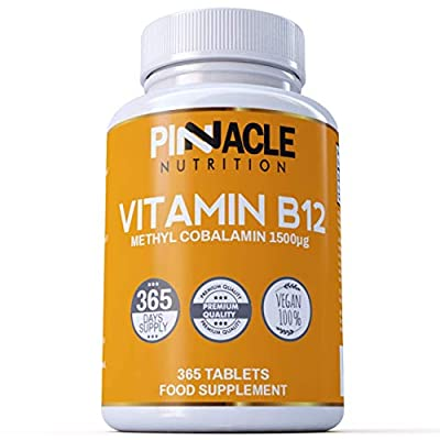 Vitamin B12 | 1500mcg | 365 Tablets | Methylcobalamin