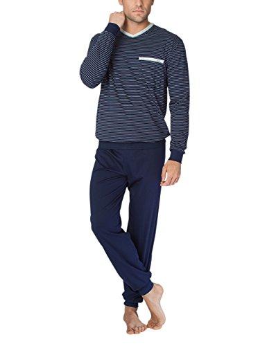 Calida Herren Anthony Pyjama mit Bündchen Zweiteiliger Schlafanzug, Mehrfarbig (Dark Blue 449), XX-Large