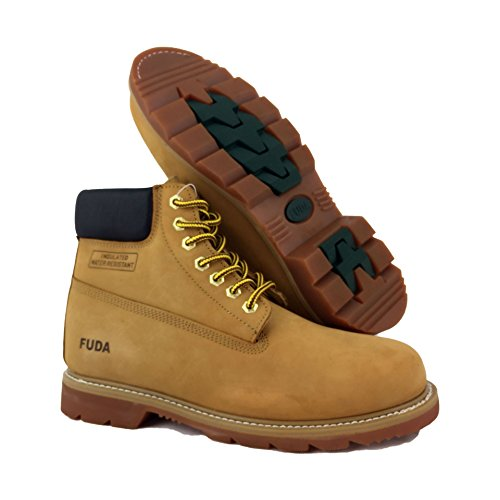 LABO Fuda Men's Leather Working Boot - 6823-TAN-13