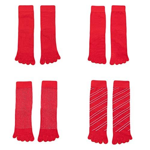 GDSSX Rote-Socken Herbst & Winter Baumwolle Paar High Waist Socken Trocken Bequem (Color : Red1)