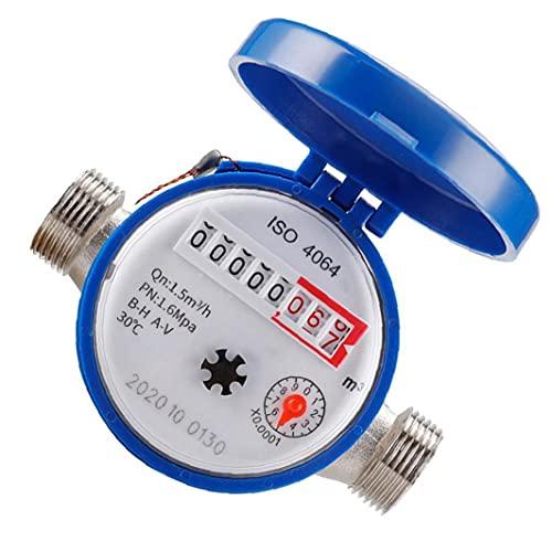 NiceJoy Kaltwasser-Durchflussmesser, mit Armaturen 1/2 Zoll Umdrehungszählern für die Nutzung zu Hause Garten Zubehör 15mm