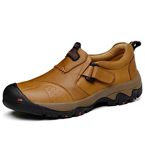 ailishabroy Herren Draussen Beiläufig Turnschuhe Männer Leder Niedrige Oberseite Schuhe (44 EU| Hellbraun) | Schuhe > Outdoorschuhe > Outdoorsandalen | ailishabroy