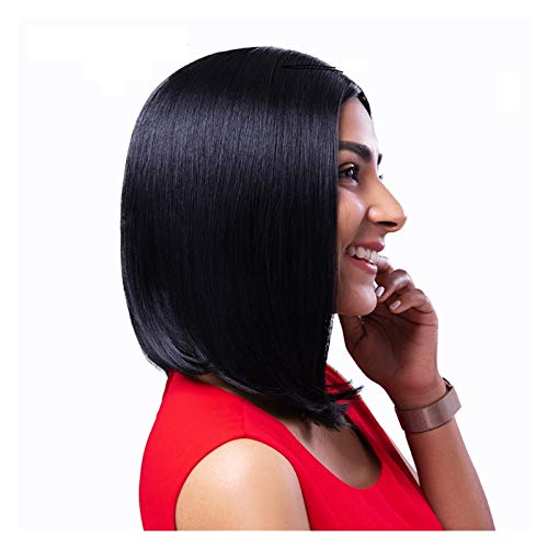 Synthetic Wig Straight Short Human Hair Wigs 13x4 Lace Frontal Wig Straight Bob Lace Front Wigs Hair Lace Front Human Hair Wig (Stretched Length : 10inches, Wig Type : Lace Front)