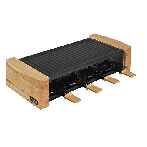 kitchenchef kcwood. 8 1200 W Acier Inoxydable, bois Raclett électrique – Raclette (1200 W, 499 mm, 220 mm, 122 mm, 2,5 kg)