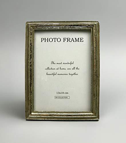 Aars International Decor Marco de Fotos 15x2x20cm. Medidas foto13x18cm. Color Oro Viejo. Estilo Vintage