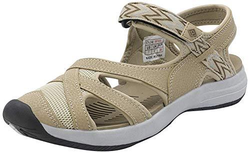 DREAM PAIRS Women's Hiking Sandals Sport Athletic Sandal Beige Size 7 M US 181103L