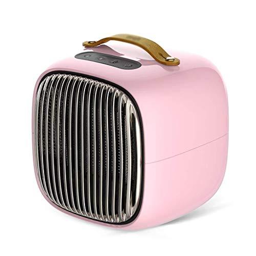 ASDFGH Heizradiator Personal Heizkörper Stehen 800W Keramik Raumheizung, Konvektionsheizung, Fast Heizung for kleine und mittlere Computer-Schreibtisch (Color : Pink)