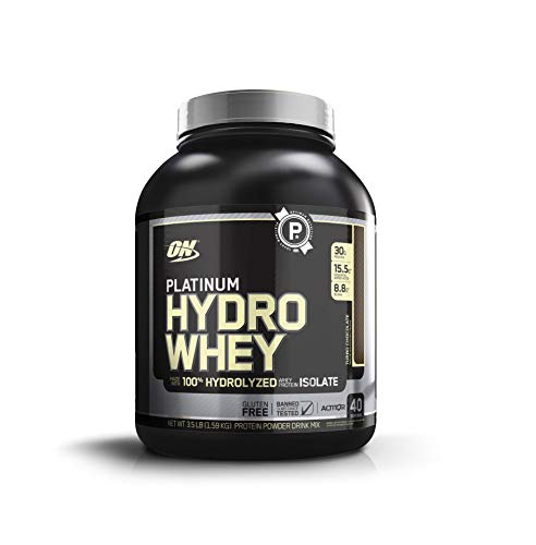 Optimum Nutrition Platinum Hydrowhey Protein Powder, 100% Hydrolyzed Whey Protein Isolate Powder, Flavor: Turbo Chocolate, 3.5 Pounds