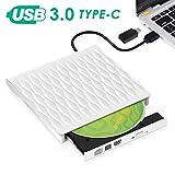 Lecteur CD/DVD Externe, Kingbox USB 3.0 Type C Graveur DVD Externe CD Portable Léger et Mince pour Ordinateurs...