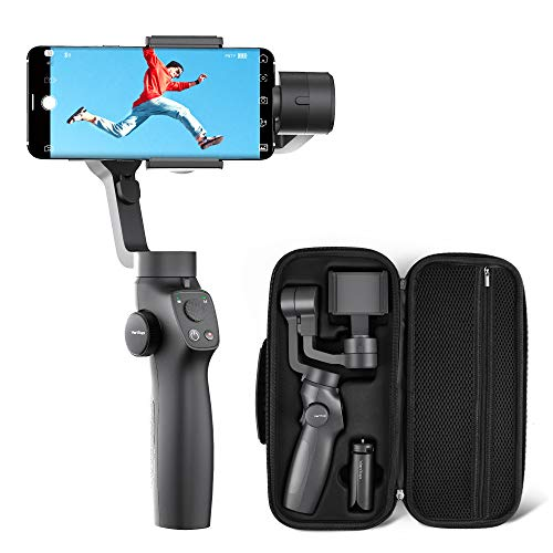 VanTop Nimbal M3 Stabilizzatore Gimbal- Stabilizzatore Smartphone a 3 Assi, 15 Ore Durata della Batteria, con Custodia Portatile e Mini Treppiede, per iPhone e Android Samsung Huawei Xiaomi