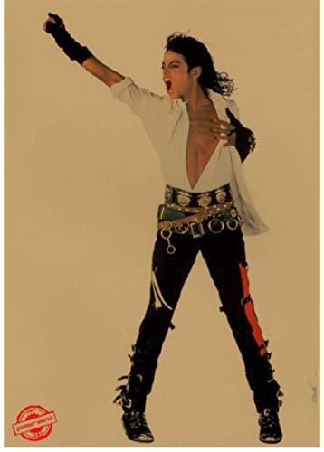 SHENGZI Cartel De La Lona Cartel De Justin Bieber Cartel del Cantante Cartel Retro De La Estrella Bar Café Decoración Pintura Etiqueta De La Pared Decoración De La Sala De Estar 50 * 70Cm Marco