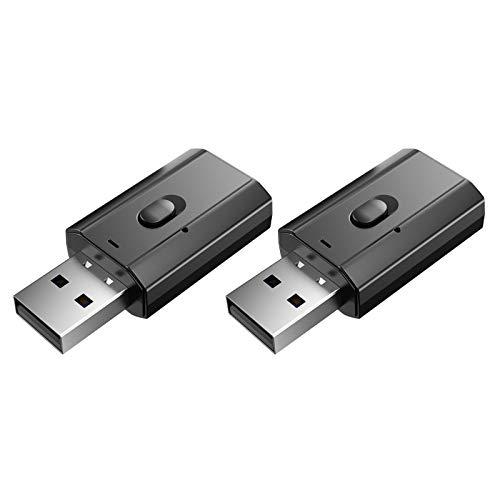 balikha 2 Piezas T7 2in1 Bluetooth5.0 Adaptador de Audio Receptor de Audio RCA para Estéreo